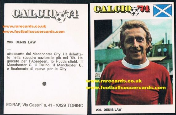1974 Denis Law Ediraf Man U
